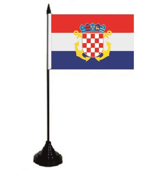 Tischflagge Kroatien Seekrieg 10 x 15 cm