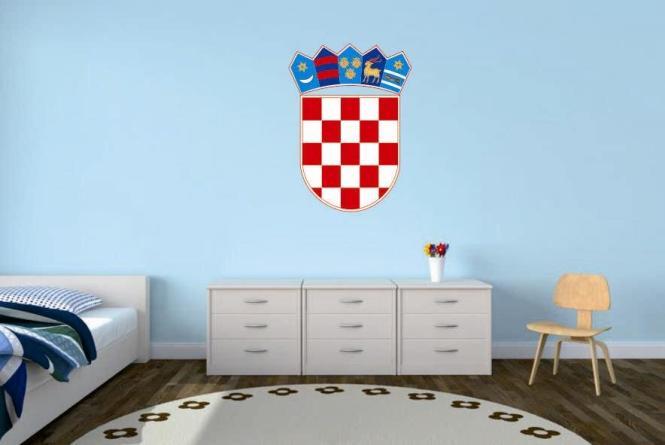 wandtattoo kroatien wappen color. Black Bedroom Furniture Sets. Home Design Ideas