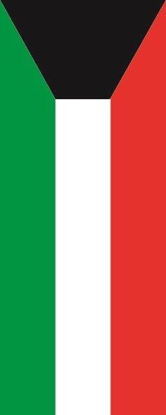 Flagge Kuwait im Hochformat