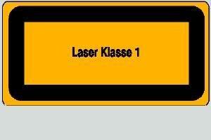 Laser Klasse 1 14,8 x 7,4 cm