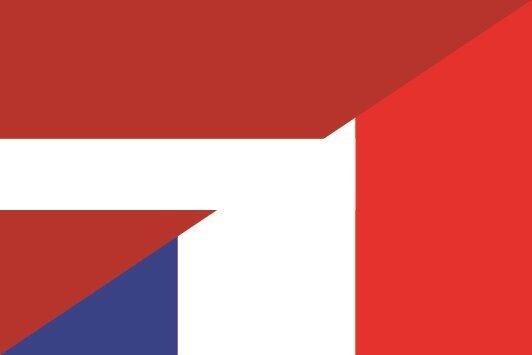 Aufkleber Lettland-Frankreich