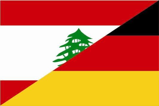 Flagge Libanon - Deutschland
