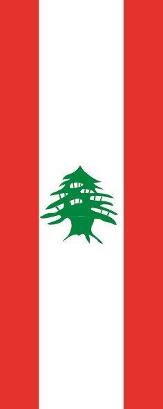 Flagge Libanon im Hochformat