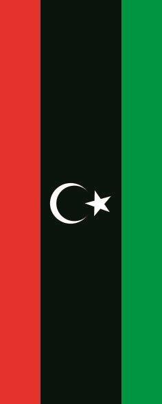 Flagge Libyen im Hochformat