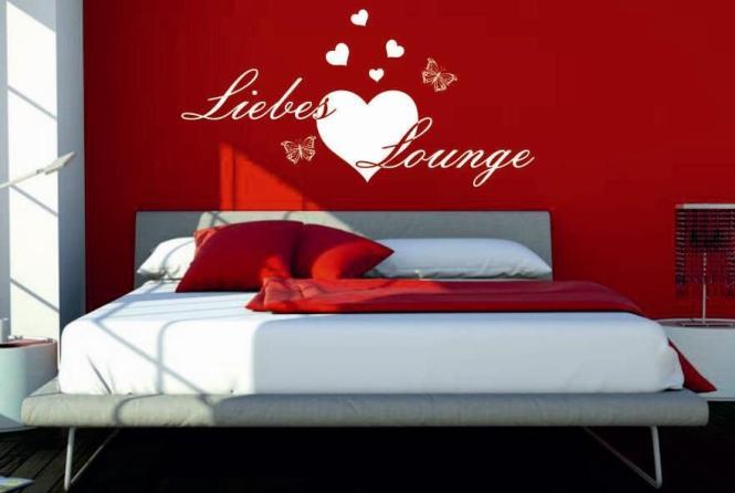 wandtattoo liebes lounge. Black Bedroom Furniture Sets. Home Design Ideas