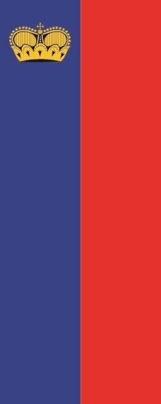 Flagge Liechtenstein im Hochformat