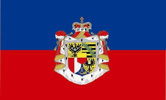 Aufkleber Liechtenstein Staatsfahne