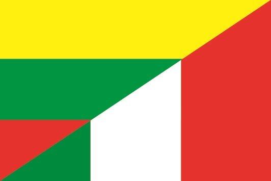 Aufkleber Litauen-Italien
