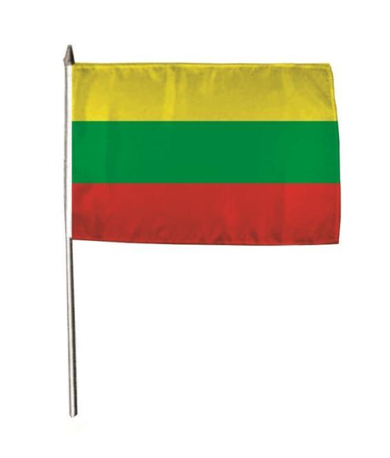 Stockflagge Litauen 30 x 45 cm