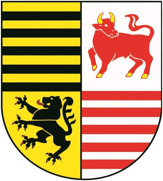 Aufkleber Landkreis Elbe - Elster Wappen