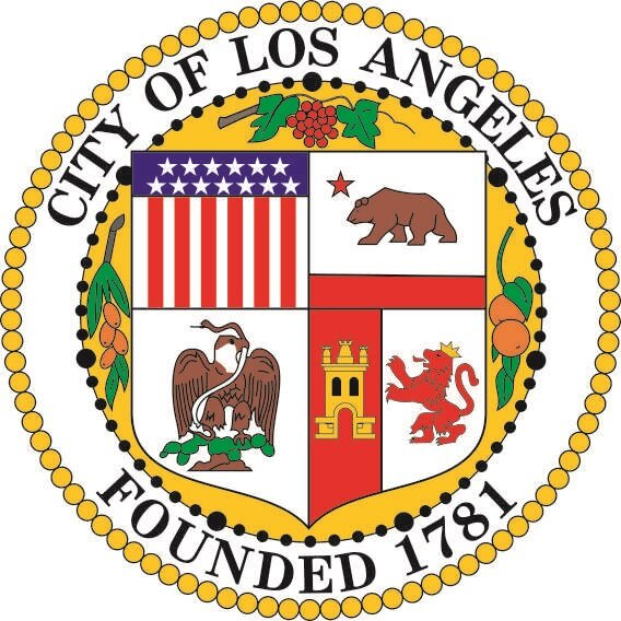 Aufkleber Los Angeles Seal Siegel