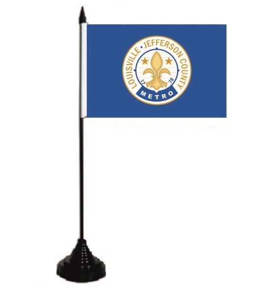 Tischflagge Louisville (Kentucky) 10 x 15 cm