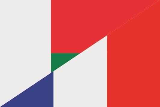 Flagge Madagaskar - Frankreich