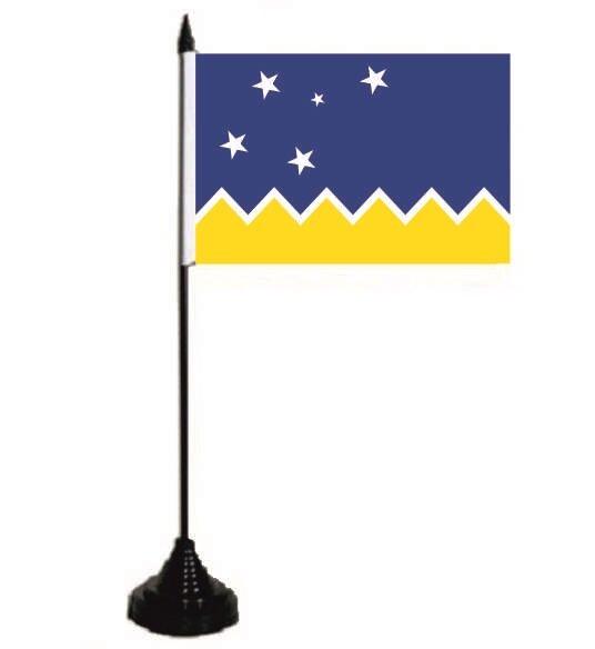 Tischflagge Magellan Region 10 x 15 cm