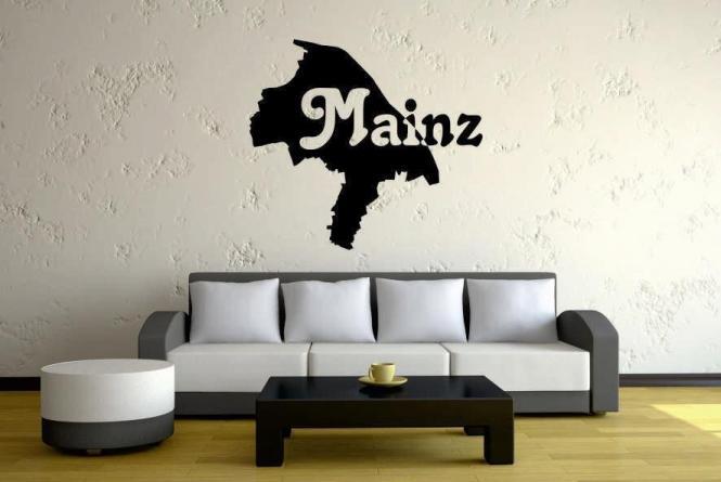 Wandtattoo Mainz Karte