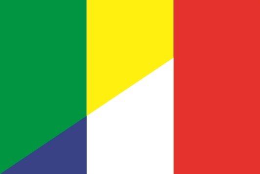 Flagge Mali - Frankreich
