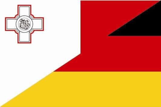 Aufkleber Malta - Deutschland