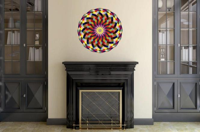 Wandtattoo Mandala Color Motiv Nr. 2