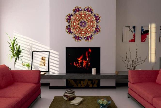 Wandtattoo Mandala Color Motiv Nr. 3