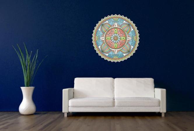 Wandtattoo Mandala Color Motiv Nr. 6