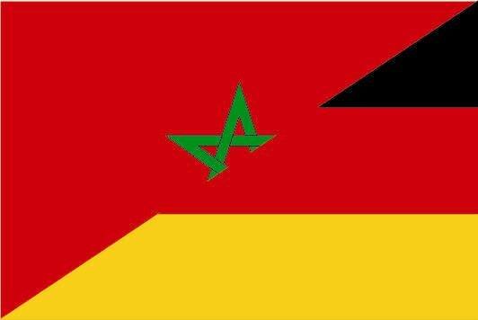 Flagge Marokko - Deutschland