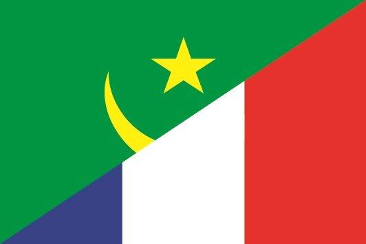 Flagge Mauretanien - Frankreich