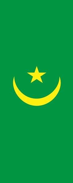 Flagge Mauretanien im Hochformat