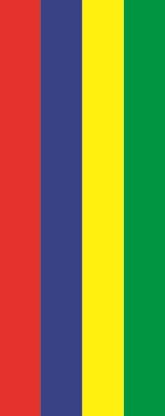 Flagge Mauritius im Hochformat