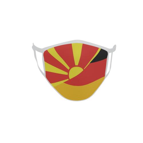 Gesichtsmaske Behelfsmaske Mundschutz Mazedonien-Deutschland