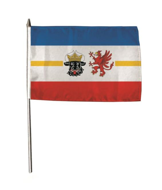 Stockflagge Mecklenburg-Vorpommern 30 x 45 cm