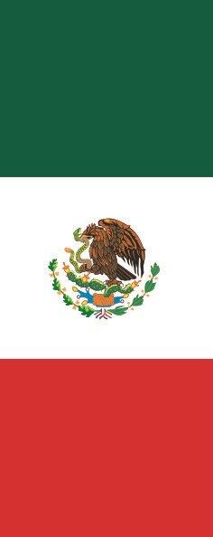 Flagge Mexiko im Hochformat