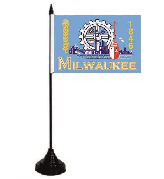 Tischflagge Milwaukee 10 x 15 cm