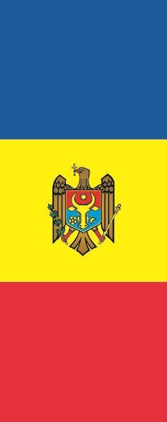 Flagge Moldawien im Hochformat