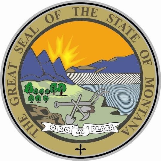 Aufkleber Montana Siegel Seal