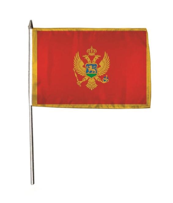 Stockflagge Montenegro 30 x 45 cm