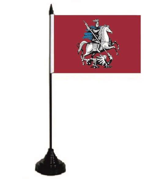 Tischflagge Moskau 10 x 15 cm