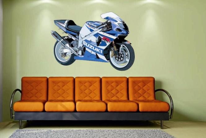 Wandtattoo Motorrad Color Motiv Nr. 2