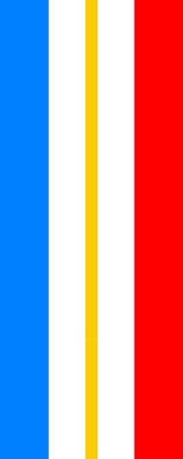 Flagge Mecklenburg - Vorpommern ohne Wappen im Hochformat