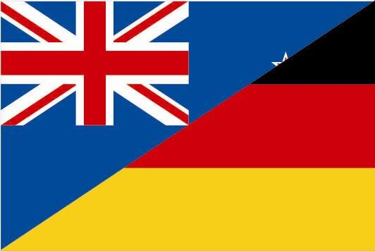 Flagge Neuseeland - Deutschland