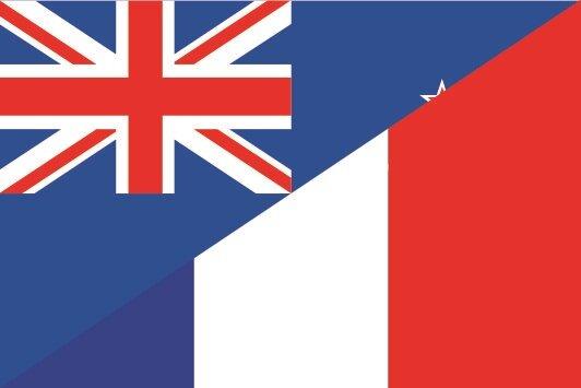 Flagge Neuseeland - Frankreich