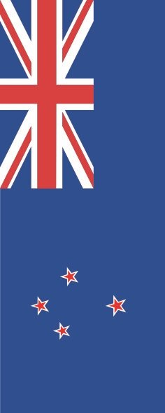 Flagge Neuseeland im Hochformat