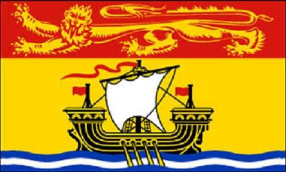 Flagge New Brunswick