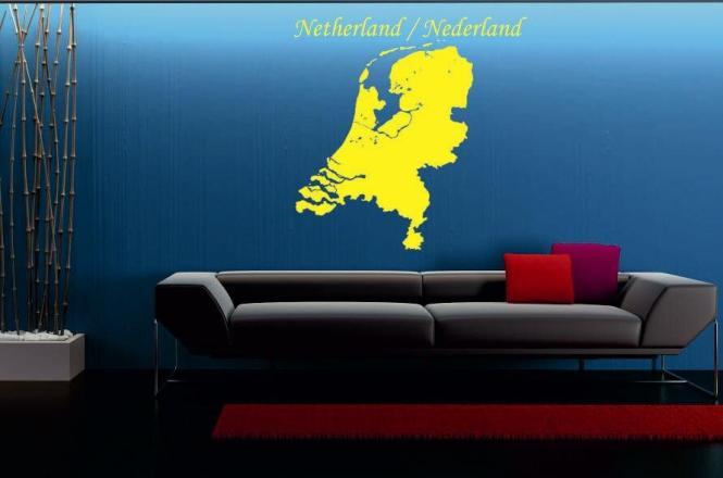 Wandtattoo Niederlande Karte