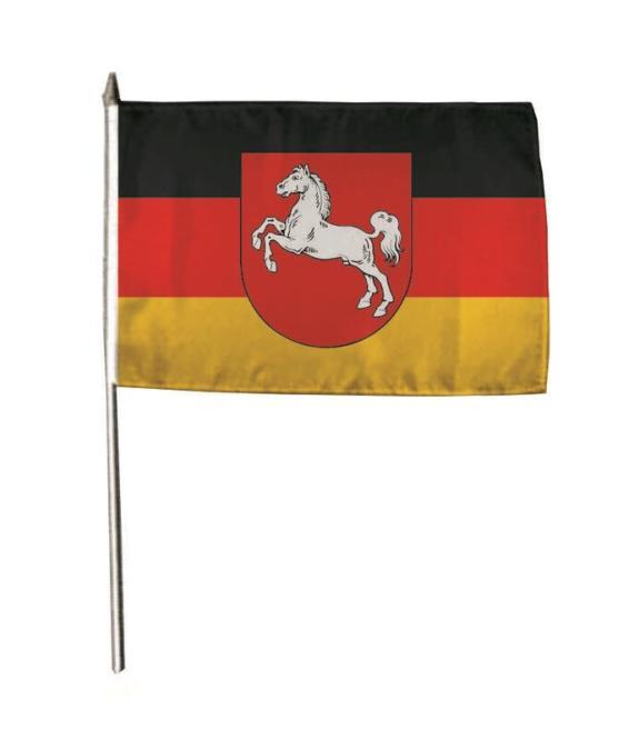 Stockflagge Niedersachsen 30 x 45 cm