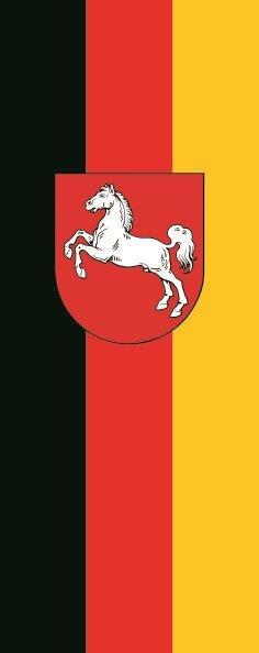 Flagge Niedersachsen im Hochformat