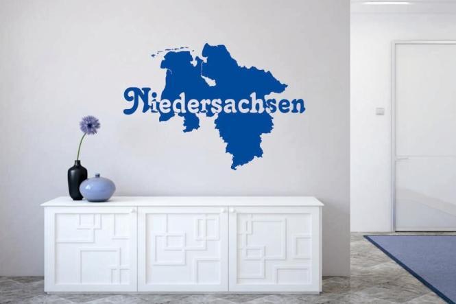Wandtattoo Niedersachsen Karte