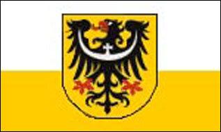 Fahne Niederschlesien 90 x 150 cm