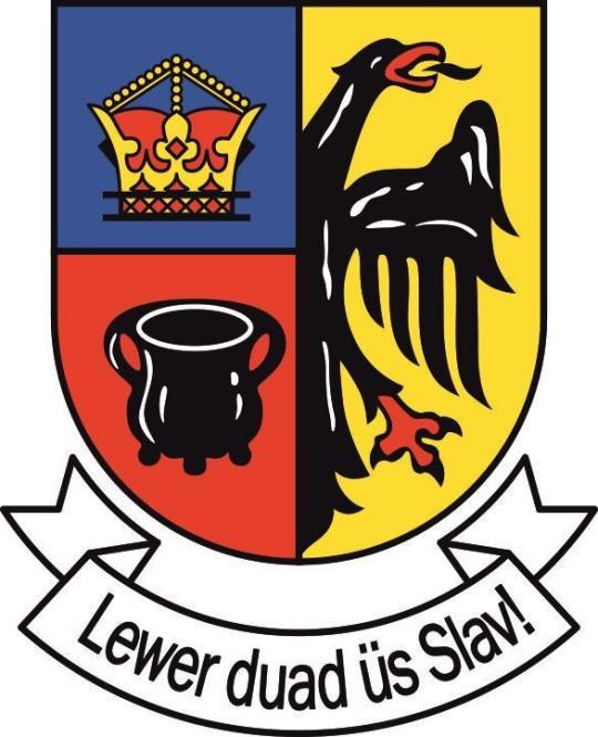 Aufkleber Nordfriesland Wappen mit Schrift 20 x 24 cm