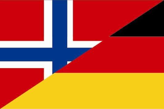 Flagge Norwegen - Deutschland