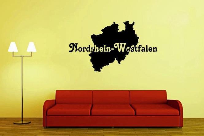 Wandtattoo Nordrhein-Westfalen Karte